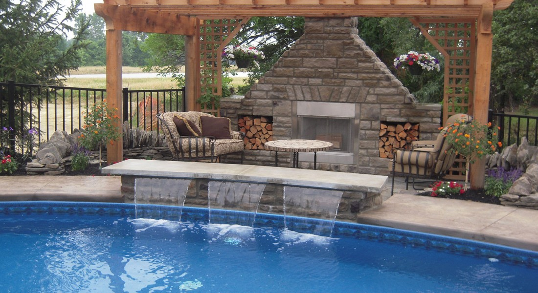 Dublin waterfalls envision pools for Pool design with swim up bar
